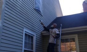 What is the appropriate weather for exterior painting?