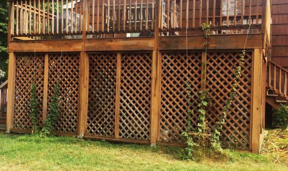 picture before painting deck painting in peabody ma