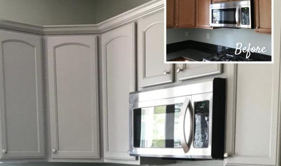 Kitchen cabinet stained